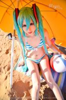 Hatsune Miku Swimwear cosplay by Maysis