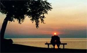 sunset with young lovers by SlowMo