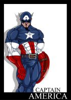 Captain America Color by Micha81