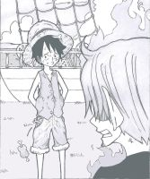 Luffy is bad telling lies by mugiwaraluffyd