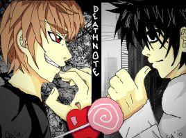 Deathnote: Kira VS L by broken-with-roses