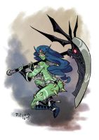 Spikes and Scythe by weremole