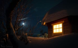 On a Cold Winter's Night by Pinho