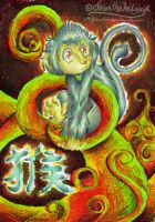 Chinese Zodiac - Monkey by mmishee