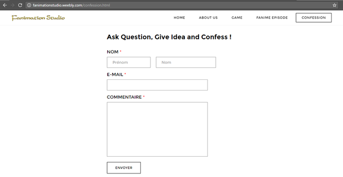 Give your idea, Ask Question and Confess ! by FanimationStudio