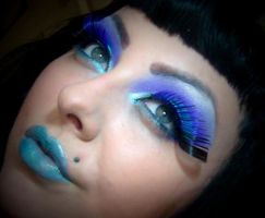 cyber blue by munstermakeup