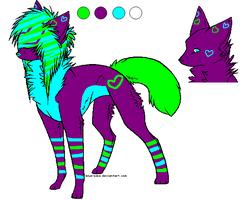 Green Blue and Purple Adopt .:CLOSED:. by love-the-adopts