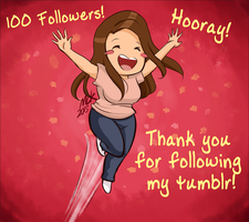 100 Followers by Megtroid