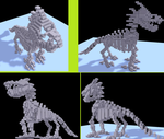 Voxel Skeleton Dragon by Tails-155