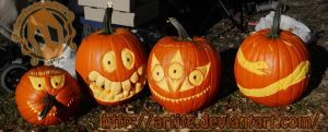 My 4 Pumpkins for the Park by artjte