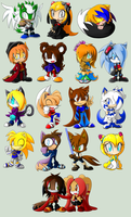 .:Gift Chibi Collection :3:. by XxRubytheRabbitxX