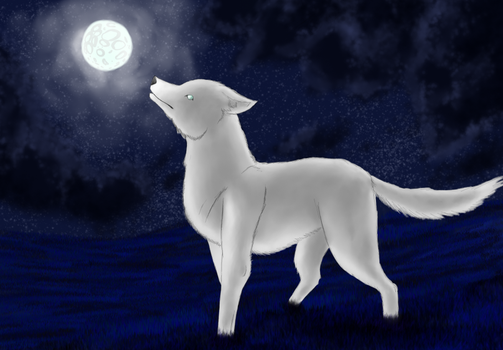 White wolf by Abbysmiles43