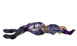 Nina Williams Knocked Out 2 by FallenParty