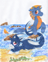 Commission - Two Sirens by TwilightFlopple