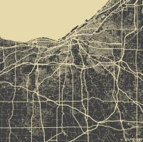 Cleveland by MapMapMaps