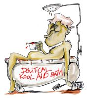 political kool aid bath by sketchoo