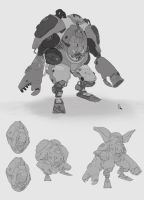 Mecha Sketchs2 by p-oyou