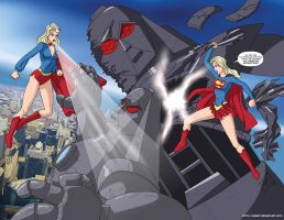 Supergirl vs Matrix Prime Comm by mhunt