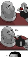 Heavy and his Strawberries by TchibiLara
