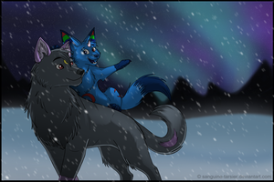 SS:Winter crossing by sanguine-tarsier