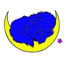 Resting Wolf In Moon Colored by tuffpuppy101