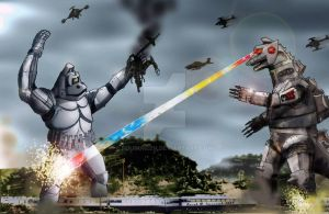 Mechani-Kong VS. Mechagodzilla by Fourgreen