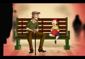 The Little Boy and the Old Man by Crispy-Gypsy