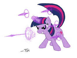 Twilight Casts Magic Missle by TanMansManTan