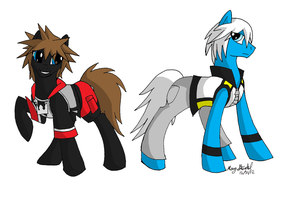 MLP FiM: Kingdom Hearts 3D-Sora and Riku by CeruleanInquisition