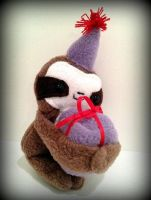 Cedric The Party Sloth Plush by Plusheeze by Plusheeze