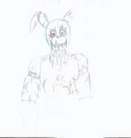 Springtrap reveal (rough test animation) by TheIcedWolf