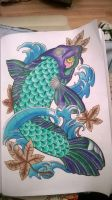 Koi fish from Tattoo colouring book by kaydkay92