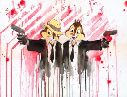 CHIP and DALE by lora-zombie