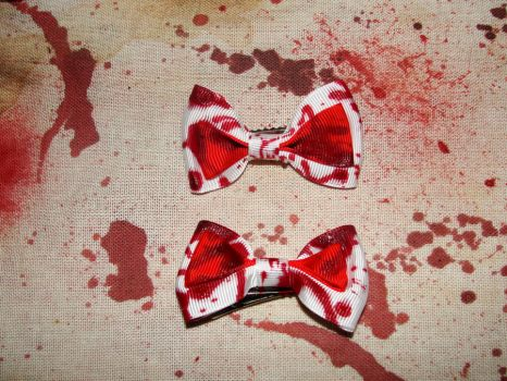 Bloody fun Hair bows by howsthatwork1