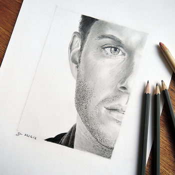 Jensen Ackles by portraitprints