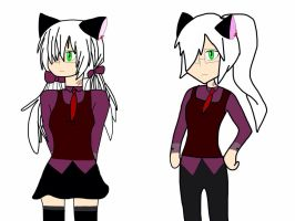 {S-C} Leslie's school style (full body).....meh by Lilythecat445618
