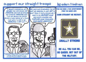Support Our Straight Troops by adamndirtyshame