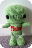 Crochet Green Robot by AAMurray