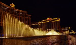 Water Display Bellagio Hotel 06 by abelamario