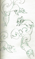 Kitty Sketches by sharkie19