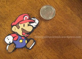 Paper Mario....in paper by zippybluedwarf