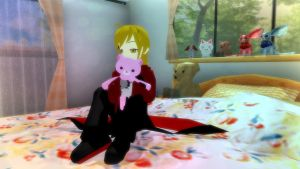 MMD - Edward and His Teddy by InvaderBlitzwing