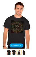 Steampunk Chick Basic Dark T-Shirt by tessieart333