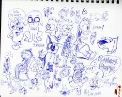 3172015 Doodles by spongefox