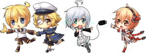 Chibi Vocaloids by KittiRawr