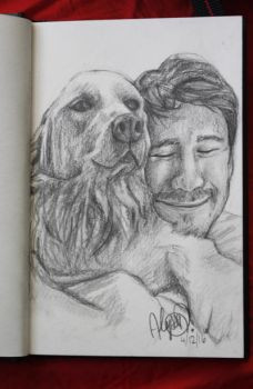 A Man and his Pup by lyssacat