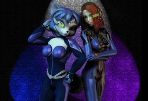 Two Huntresses by Daymond42