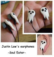 Justin Law's Earphones by CrowMaiden