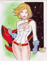 'Cartoon' Powergirl (#2) by Rodel Martin by VMIFerrari