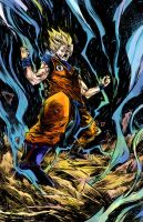 Super Saiyan Goku colors by JamesWhynotInks